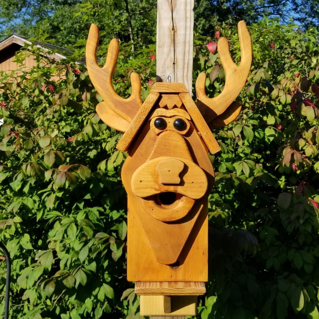 Stained Deer Birdhouse