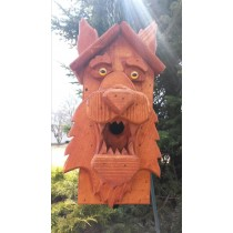 Stained Wolf Birdhouse