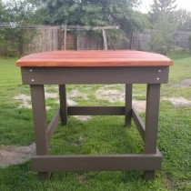 """58"""" Oval High Top Table"""