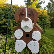Brown and White Lab Birdhouse