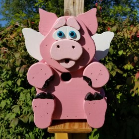Pig with Wings Birdhouse